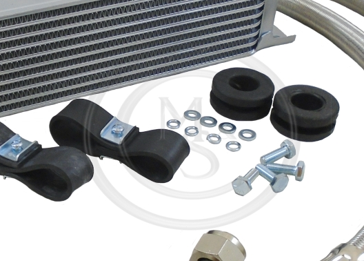 Long Oil Cooler to Block Pipe for MGB GT Roadster Chrome 63-74 from GHN3 47112